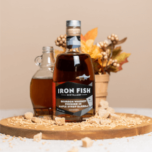 Iron Fish Bourbon Whiskey Finished in Maple Syrup Barrels (750ml)