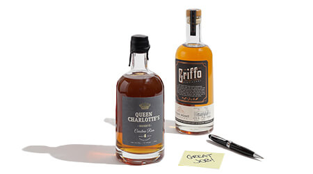 griffo and queeen chalottes bottles