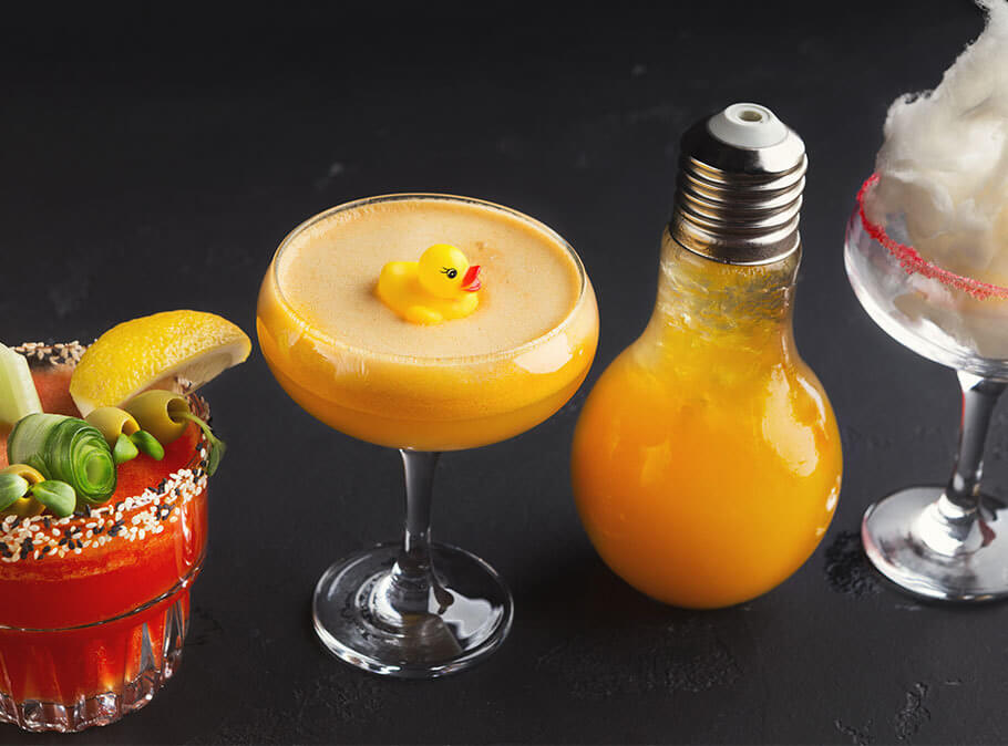 Get ready to meet four of the world's most unusual cocktails.