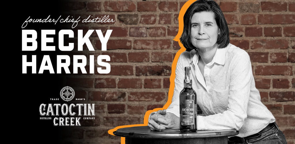 Becky Harris, president and chief distiller at Catoctin Creek Distilling Co.