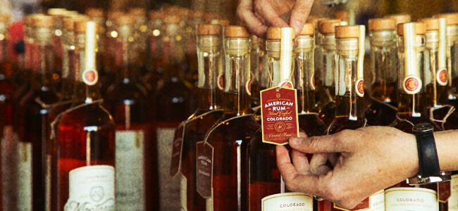 Hand-numbered tags placed on every bottle of Montanya rum.