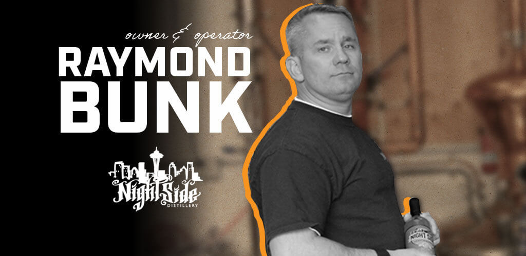 Raymond Bunk is a police commander, retired firefighter and United States serviceman. He's also one of the owner/operators at Nightside Distillery